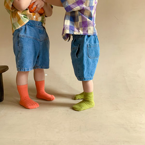 【先行予約】デニムパンツ ビックシルエット ハーフパンツ 韓国子供服