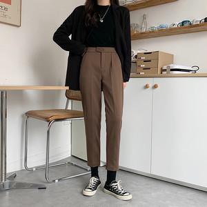 〈カフェシリーズ〉ウールハイウエストスリムパンツ【wool high waist slim pants】