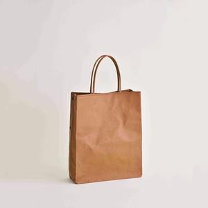 本革紙袋 黒とベージュ,入荷いたしました。ご注文お待ちしております。