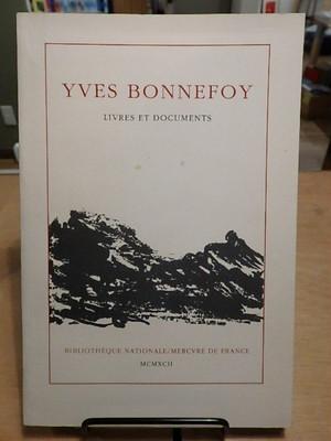 Livres et documents / Yves Bonnefoy(イヴ・ボヌフォワ)