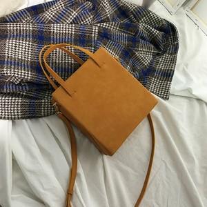 【バッグ&シューズ】新作人気韓国系ファッション無地ハンドバックショルダーバッグ22536998