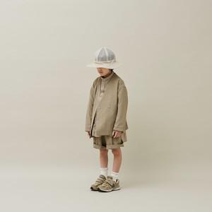 MOUN TEN.  21SS polyester canapa Jacket (khaki) 110-140
