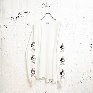 FILM SIDE L/S TEE(WHITE)