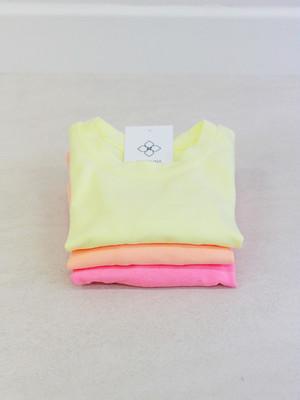 カラーロングTシャツ【オレンジ.ピンク.イエロー】