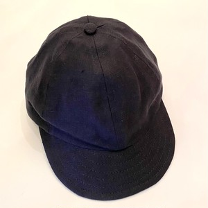 Baseball Cap Short Visor(Linen) Black