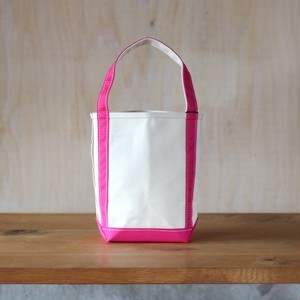 "BAGUETTE TOTE MINI ""NATURAL/ SHOCKING-PINK"""