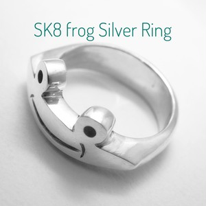 SK8 frog Silver Ring