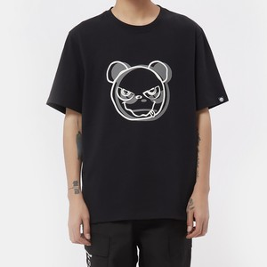 【HIPANDA】メンズ Tシャツ MEN'S HIPANDA  LOGO SHORT SLEEVED T-SHIRT / BLACK