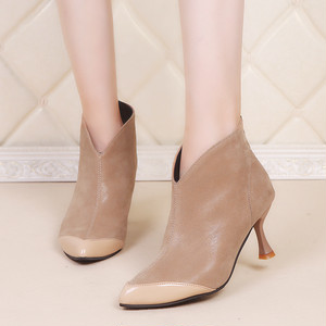 【shoes】スタイリッシュ切り替えファスナー飾り大人気ブーツ 23185391