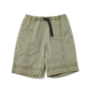 White mountaineering × Gramicci /GARMENT DYED TRIPLE NEEDLE STITCH SHORTS [KHAKI]