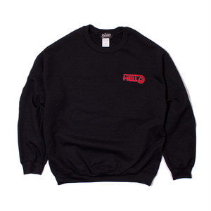 HELLO CREWNECK SWEAT #BLACK