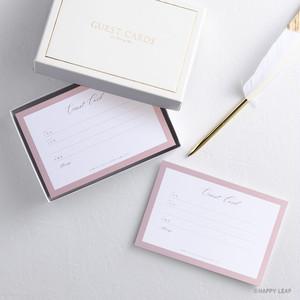 ゲストカード & BOX 『mila』/50枚セット