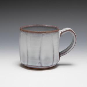 藁灰釉面取マグカップ