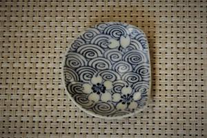 渦巻き箸休め豆皿
