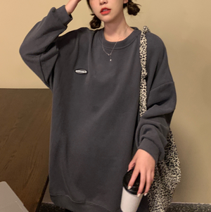 Spring color front point logo long tee LD0622