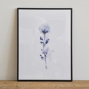 ポスター30cm×40cm /blue rose(フレーム付き)