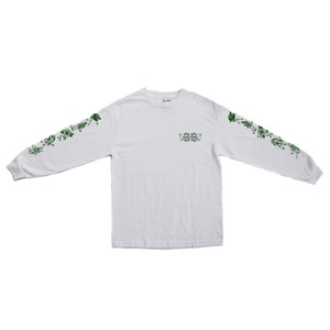 PASS PORT(パスポート) / FLORAL FRIENDS L/S TEE -WHITE-