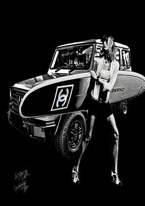 STARDESIGN 作品名:Gelande Surf V3  A4ポスターフレームセット【商品コード: wb44】
