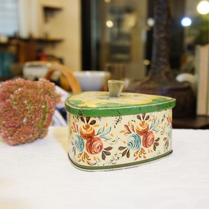 50's-60's Vintage Tin Box   [OV-9]