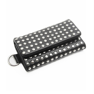 106AAO14 Leather key case 'all-studs' キーケース