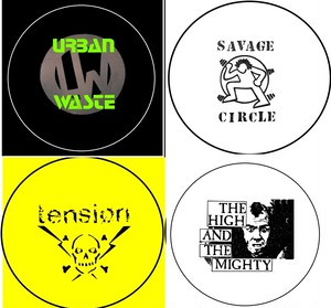"""Urban waste / savage circle / tension/ High & the mighty - 1"""" pin button(バッジ)"""