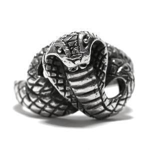 Vintage Sterling Silver Mexican King Cobra Snake Ring