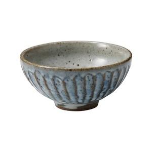 信楽焼 へちもん 飯碗 小 青萩彫 MR-3-3489