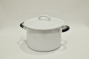 USED Unknown 琺瑯鍋 Cooking pot made in Poland 01072