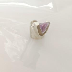 一点モノ 洞窟の中から見える綺麗な紫指飾り