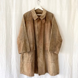 "FRANCE 1920s antique""Manufacture Francaise""linen hunting coat"