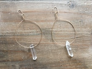 14kgf Crystal hoops