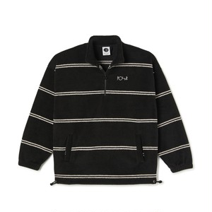 POLAR SKATE CO / STRIPE FLEECE PULLOVER 2.0 -BLACK-