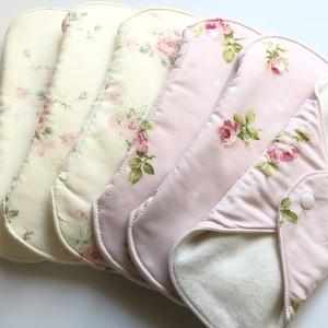 ローズの香り(ピンク/オフホワイト) 布ナプキンM size