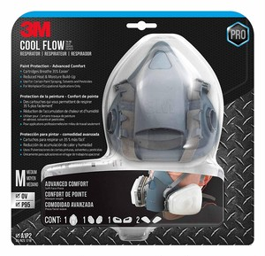 3M 7502 Cool Flow Respirator Paint Protection Mask