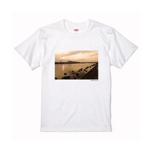 【寄付対象】【CHIKUGO百景】筑後川の夕景Tシャツ(送料無料)