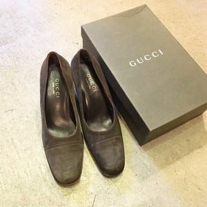 ーdead stockー GUCCI suede pamps