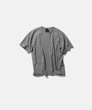 ATON NUBACK COTTON OVER SIZED T-SHIRT Grey KKAGIM0201