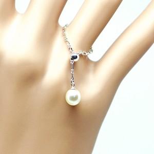 人魚の涙(あこや本真珠)のチェーンリングA フリーサイズ