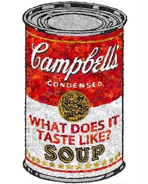 ED.1-11 サガキケイタ版画作品 キャンベルのスープ缶 -WHAT DOES IT TASTE LIKE?-