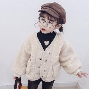 【子供服】合わせやすい柔らかい無地暖かいコート・トップス24277019