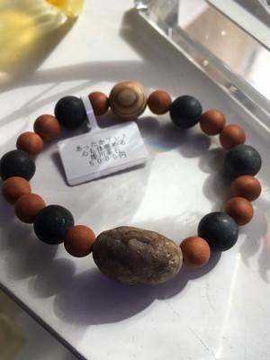 姫川薬石と屋久杉の「あったかブレスレット」2