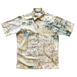 70's シアーズ USEDプルオーバーアロハシャツ 和柄 / size M
