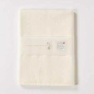 わた音カラー ヘリンボーン織り バスタオル/生成 1-65607-11-OW