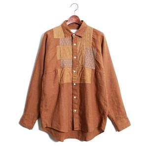 Patchwork Shirt -Camel <LSD-AH1S3>