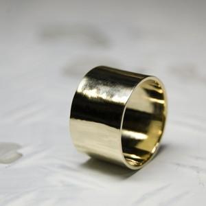 真鍮フラットリング 12.0mm幅 鏡面 3号~27号|WKS FLAT RING 12.0 bs mirror|FA-366