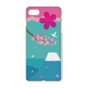 iPhoneケース/富士と桜