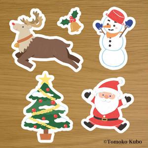 クリスマスの飾りパネル5点セット