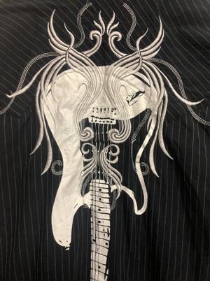 mid〜late2000's goth western rock guitar shirt