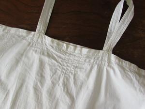 ヘムステッチ刺繍が素敵な コットン アンティーク キャミソールワンピース [ドイツ]