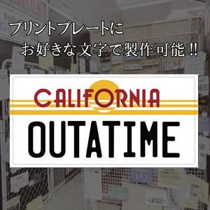 [文字変更可]カリフォルニア プリントプレート